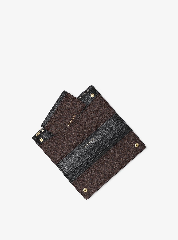 JET SET ラージ カードケース キャリーオール - MKロゴ