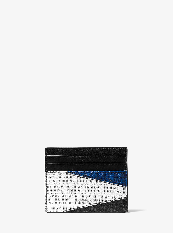 GREYSON MKロゴ カラーブロック  トールカードケース