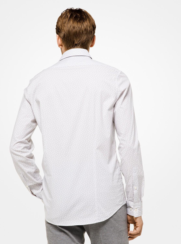 トリムストレッチ コールプリントシャツ