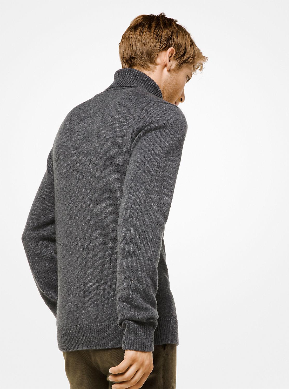 カシミヤ タートルネックセーター