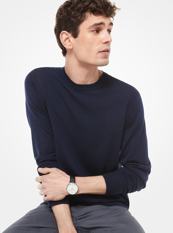 メリノウール クルーネック セーター