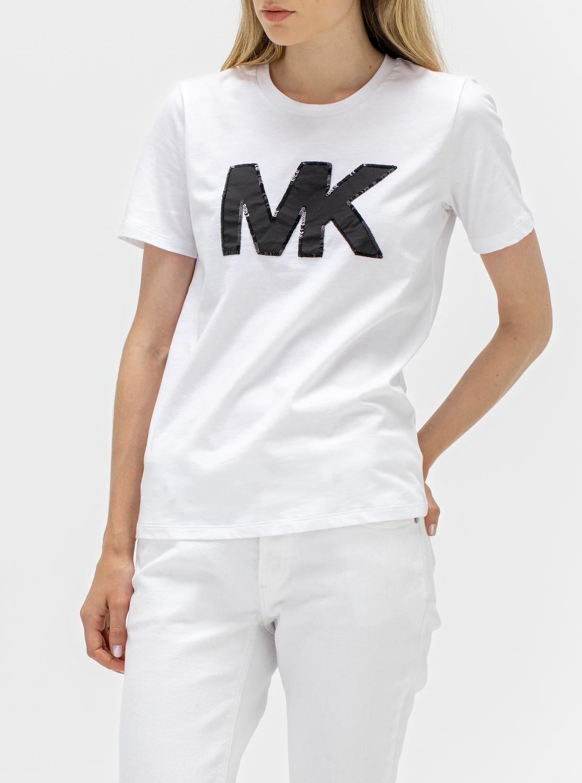 MK ロゴ シークイン Tシャツ