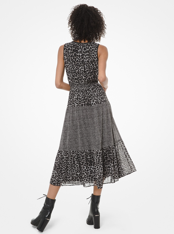 チーター ミックス タンクドレス