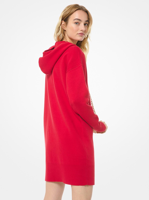 MK チェーン フーディー ドレス