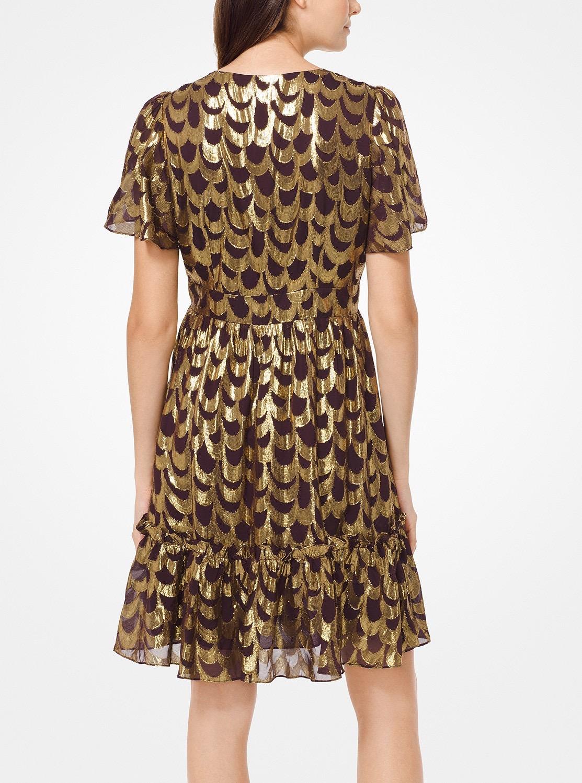 ウェイビー スカロップ ドレス