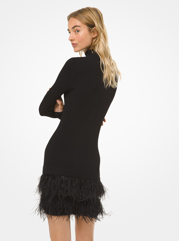 フェザースカート タートルネックドレス