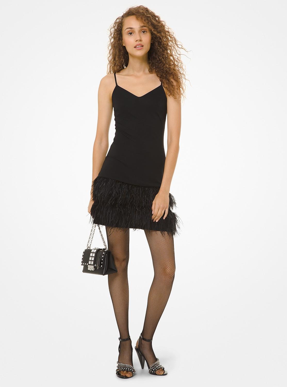 フェザースカート スリップドレス