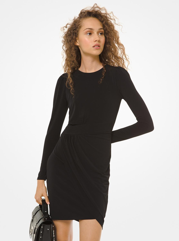 パフスリーブ ラップスカートドレス