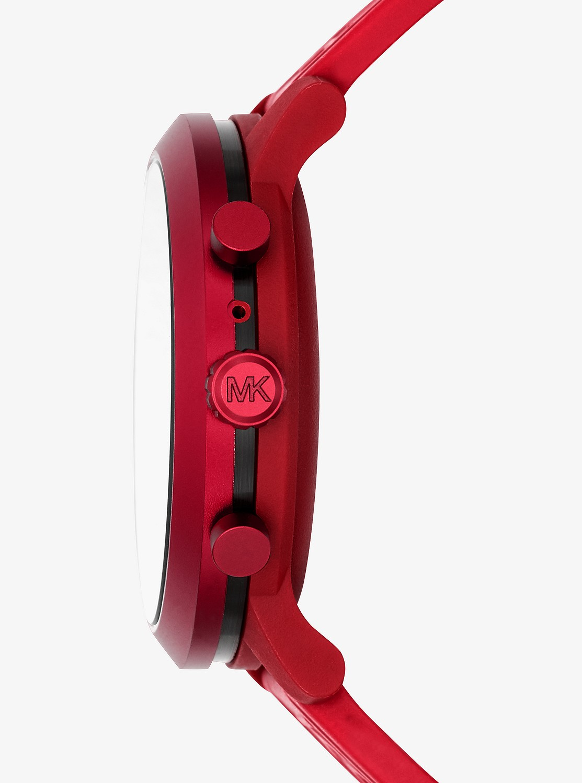 ACCESS MKGO 43mm レッドトーン シリコンベルト スマートウォッチ - G4