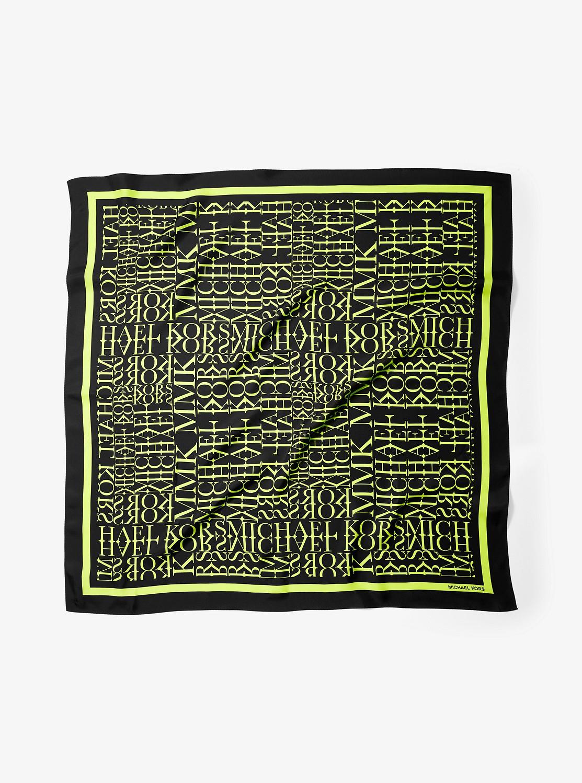 ネオン ロゴ シルク スカーフ