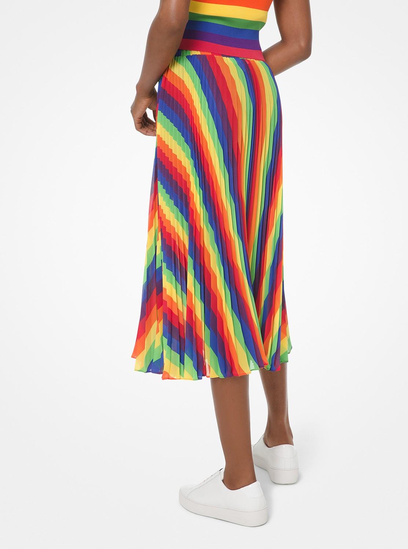 レインボー プリーツ スカート