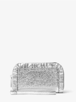 ラージ フラット フォンケース - メタリックラッフル