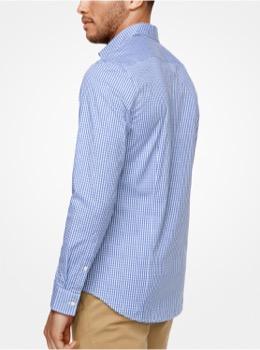 ストレッチ ギンガムチェックシャツ