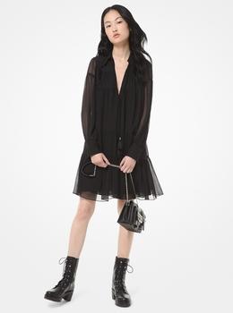 クリンクル ジョーゼット ドレス