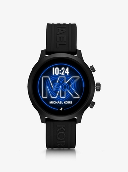ACCESS MKGO 43mm ブラックトーン シリコンベルト スマートウォッチ - G4