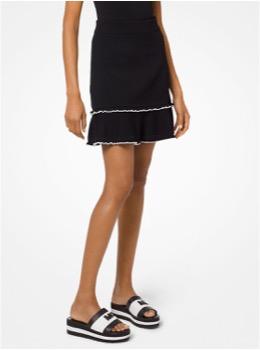 ラッフル フレア セータースカート