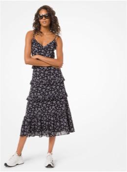 ミディアム レングス ラッフル ドレス