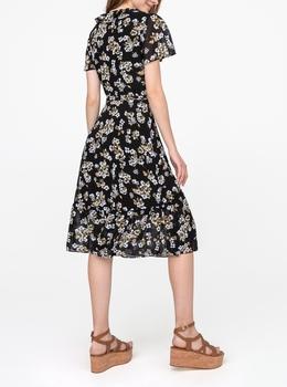 グラム ペイント フローラル ラップドレス
