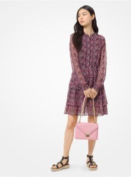 フローラル シャツ ドレス