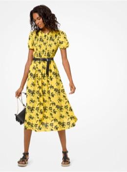 ボタニカル ショート スリーブ ドレス