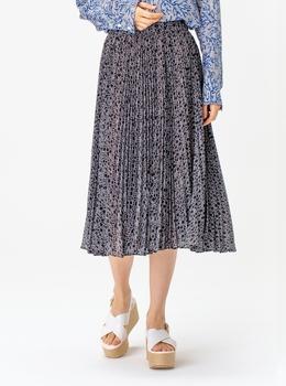 ロゴ プリーツ スカート