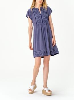ジオ ボーダー シルバー ドレス