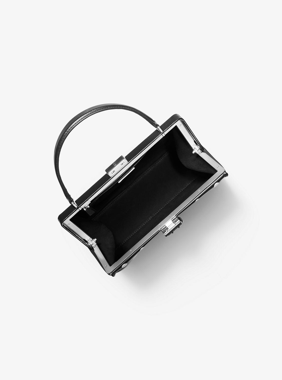 SIMONE ポルカドット ベルテッド トップハンドル バッグ