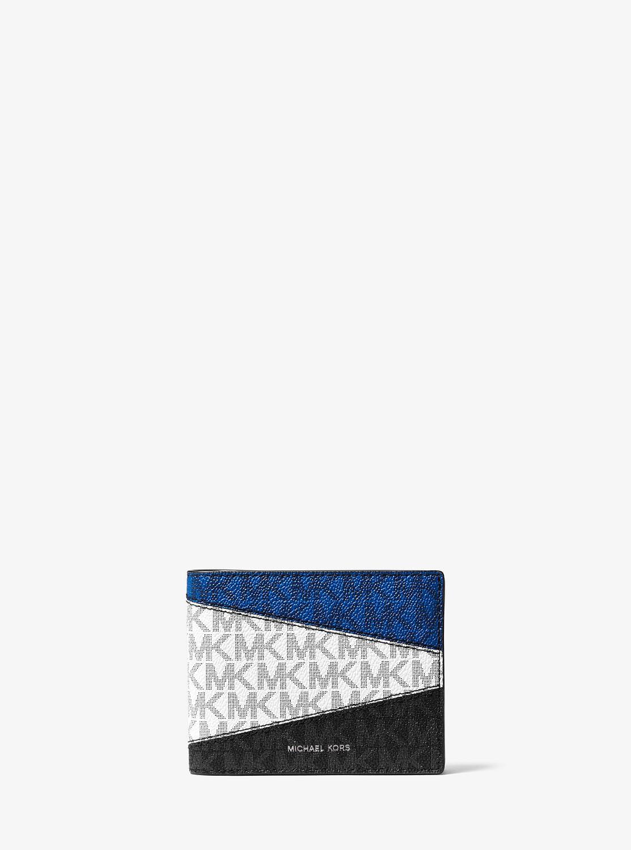 GREYSON MKロゴ カラーブロック ビルフォールド w/ パスケース