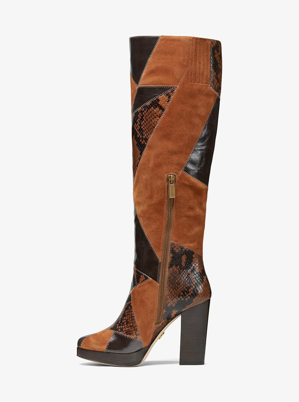 HANYA ブーツ - マルチパッチワーク