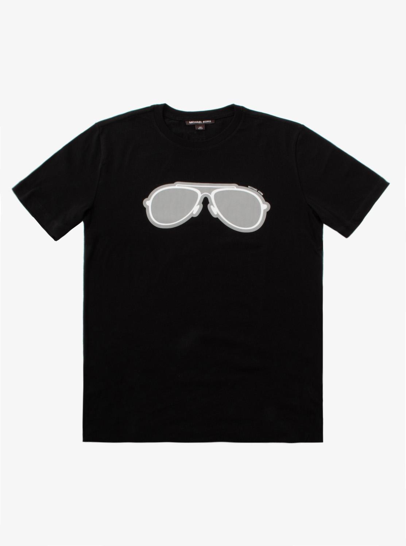 アビエーターサングラス プリント Tシャツ