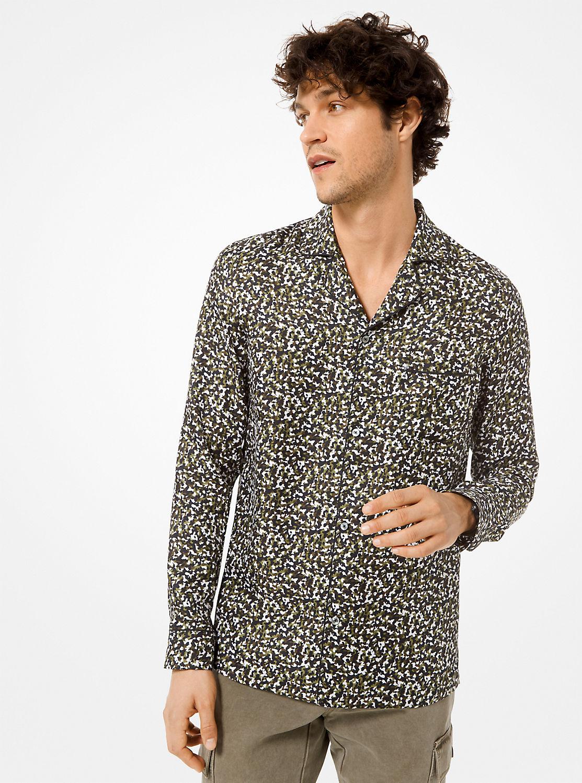 シルク パジャマシャツ