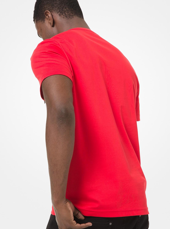 カラーブロックロゴTシャツ