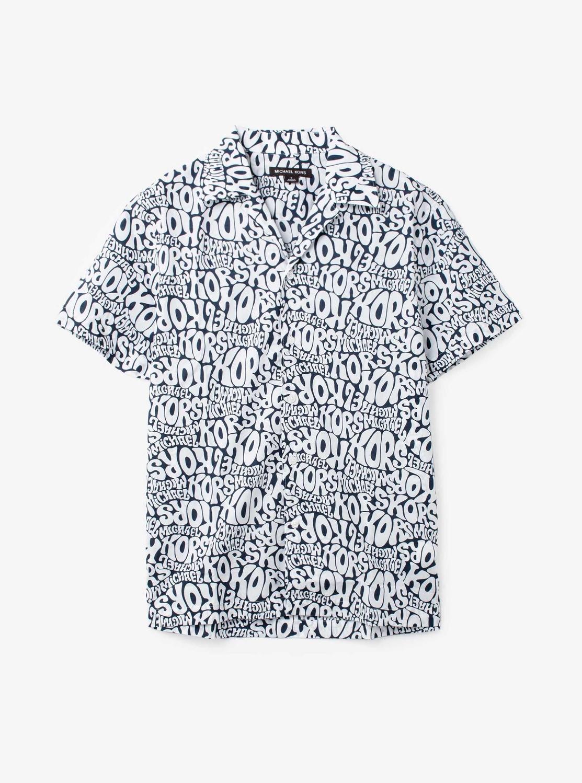 ヘッドライン プリント SSシャツ