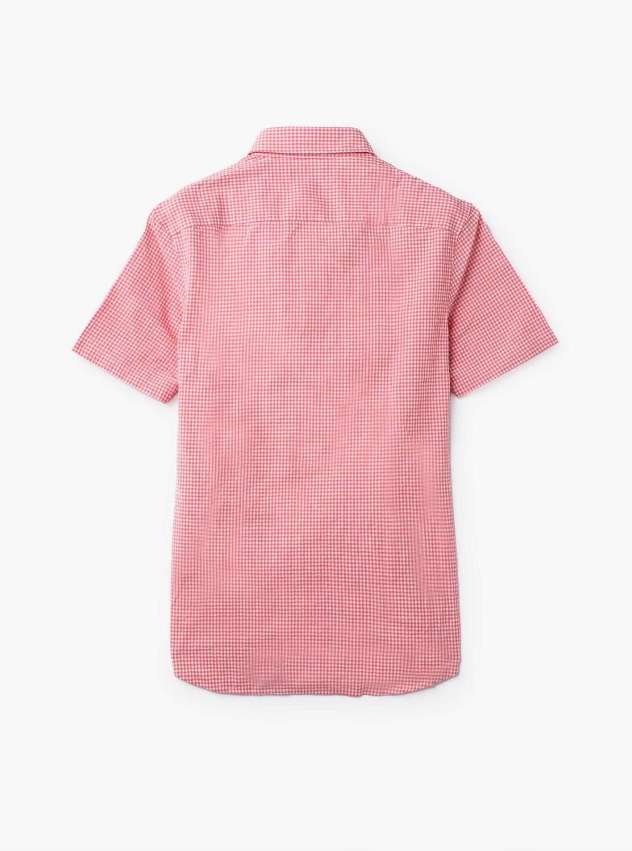 ギンガム シアサッカー SSシャツ
