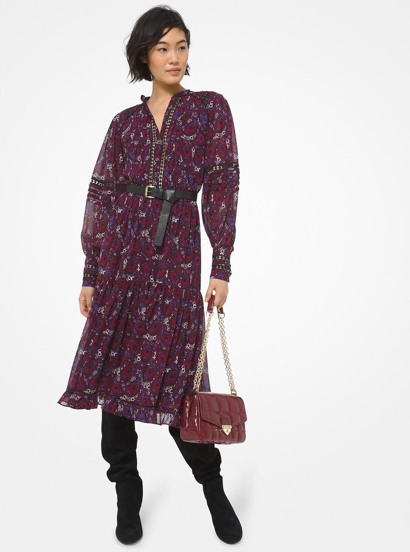 ジニア ペイズリー ドレス