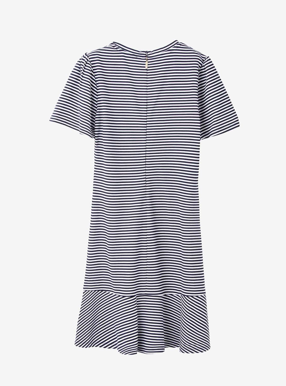 ショートスリーブ ストライプ ドレス
