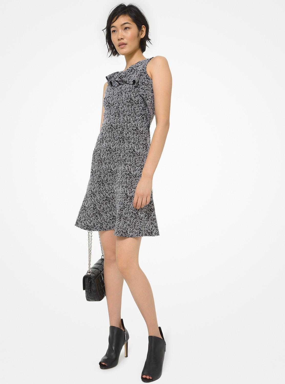 ジャカード フレア ドレス