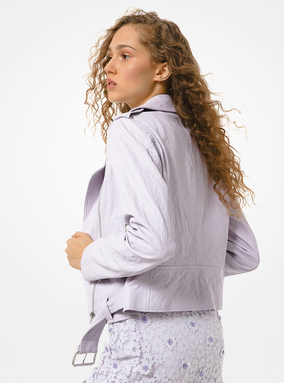 クリンクルレザー ライダースジャケット