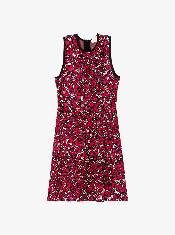リーフ ジャカード スリーブレス ドレス