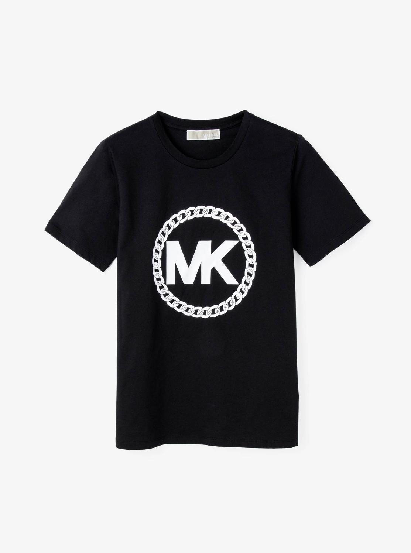 MKロゴ チェーンプリント Tシャツ