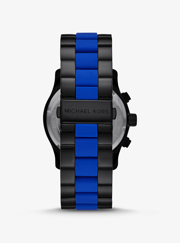 RUNWAY ツートン ウォッチ 45mm / ブラック x ブルー