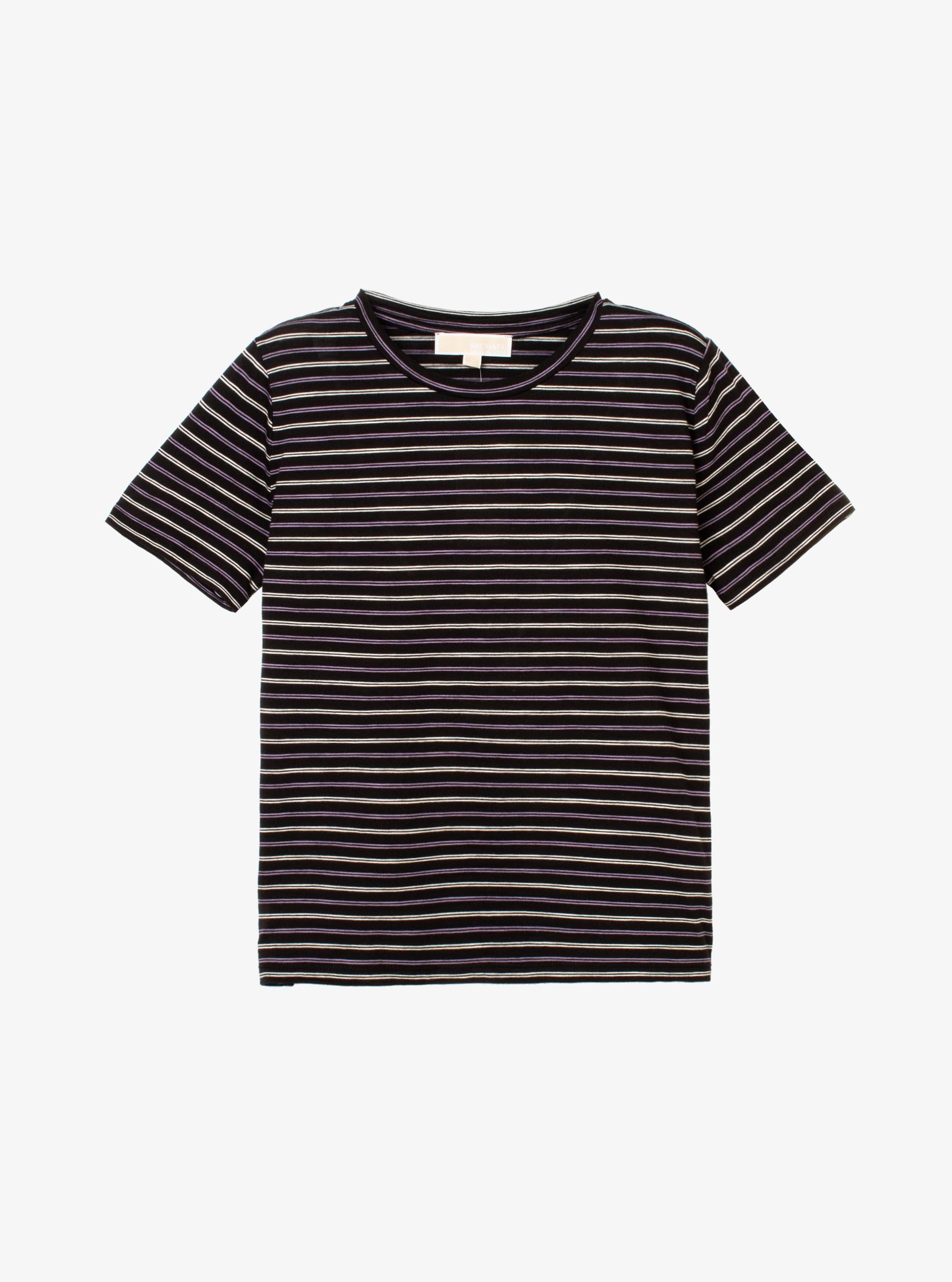 ボーダー スラブコットン Tシャツ