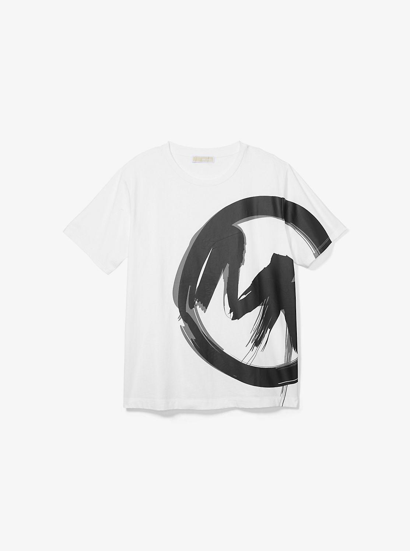 ブラッシュプリント MKロゴ ユニセックス Tシャツ