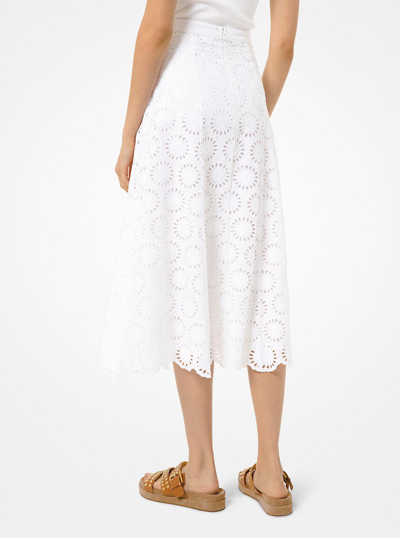 フローラル アイレット スカート