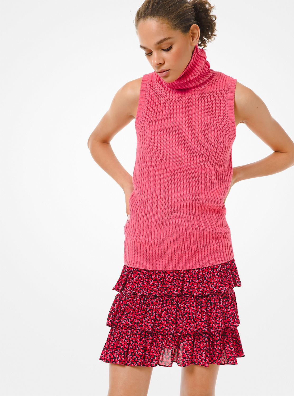 ペタルプリント ティアードスカート