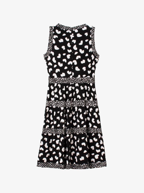 ペタル ミックス ティアード ドレス