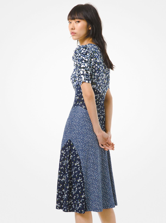 フローラル ミックスプリント ドレス