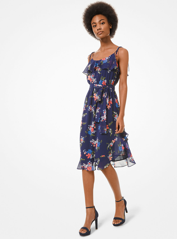 ブルーミング ブーケ フラウンスドレス
