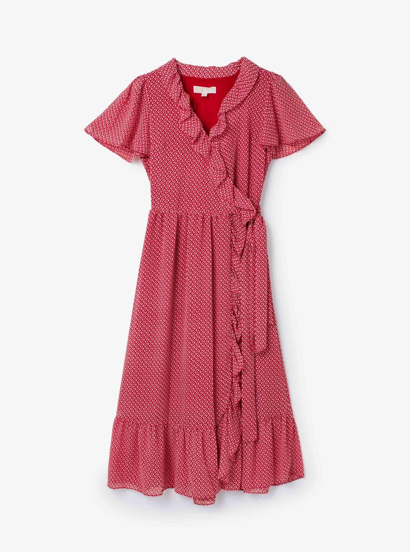 ミニバイカラー 60sフローラル ドレス