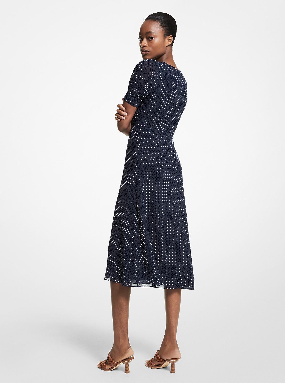 パーフェクトドット ボタンダウン ドレス